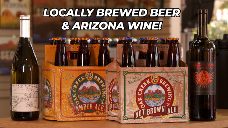 Locally brewed beer and Arizona wine at Crazy Tony's in Sedona