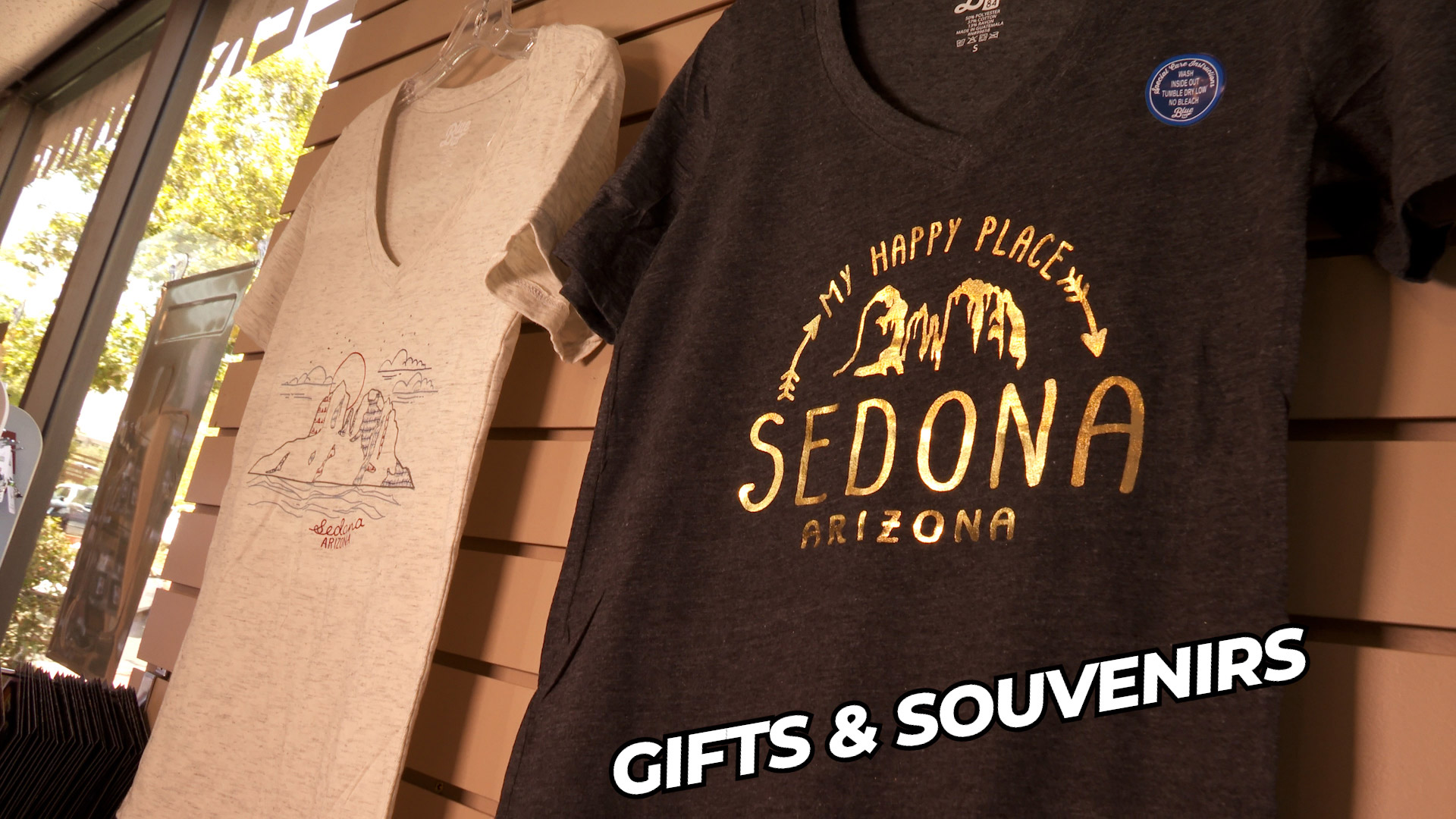 Sedona souvenirs available at Crazy Tony's Uptown Market